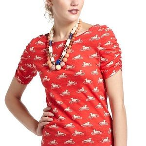 Anthropologie Postmark Here & There Duck Tee